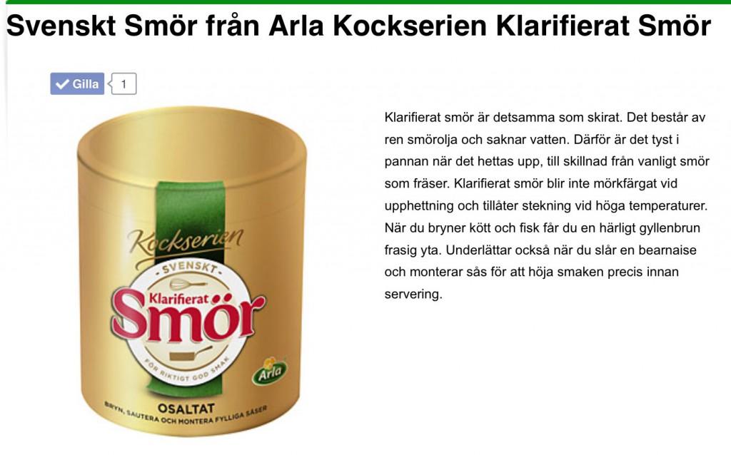 arla klarifierat smör